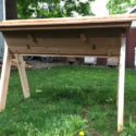 Hand Crafted Cedar Top Bar Hive - Observation window and Screened Bottom Board